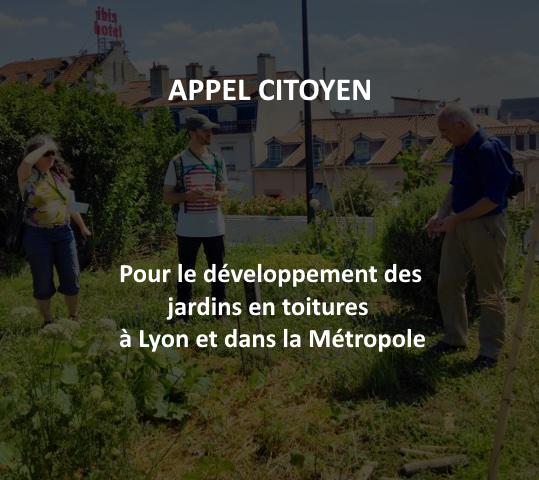 Appel citoyen : développons les jardins en toitures à Lyon !